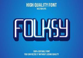 Folksy Editable Text Effect vector