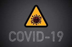 Covid-19, Coronavirus sign.