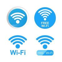 Wifi symbol on background vector