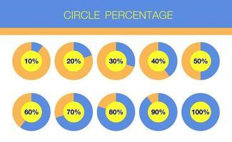 Circle percentage set vector