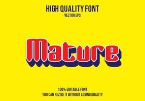 Mature Text Effect vector