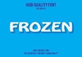 efecto de texto editable congelado vector