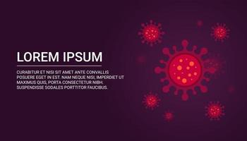Virus background with copy space for text.