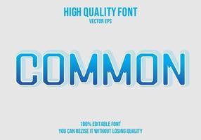 efecto de texto editable común vector