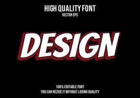 diseño de efecto de texto editable vector