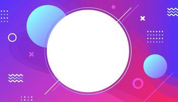 Colorful gradient dynamic memphis style background.