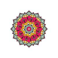 Bright star mandala design vector
