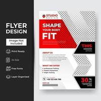 Template of vertical roll-up banner with hexagonal elements
