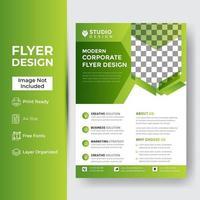 Business Flyer Corporate Flyer Template Geometric shape vector