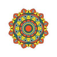 diseño de mandala audaz brillante colorido vector