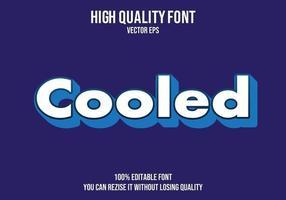 efecto de texto simple editable enfriado vector