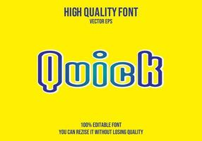 Quick Editable Text Effect vector