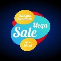 Sale Website Banner for Raksha Bandhan. vector