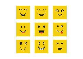 conjunto de emoticonos de sonrisa