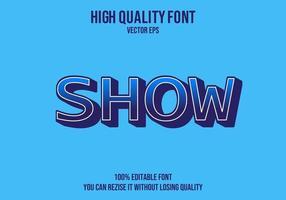 mostrar efecto de texto premium vector