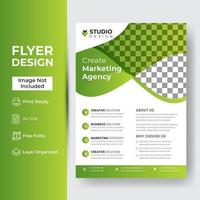 Business brochure flyer design layout template in A4 size