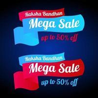 Sale banner rakhi mega sale offer vector