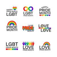 LGBTQ and Pride Month icon set