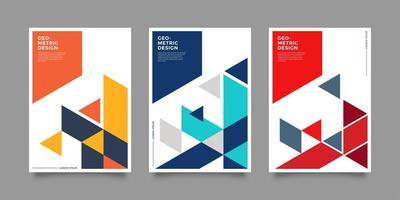 Geometric Cover Corporate vector