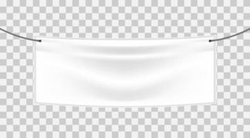 banner textil blanco vector