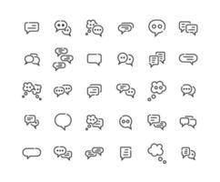 Speech Bubble Outline Icon Set