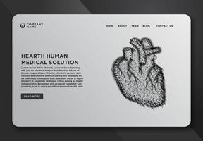 Web page design template with heart