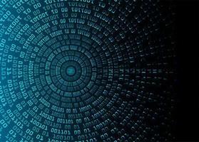 fondo de tecnología futura del circuito cibernético azul