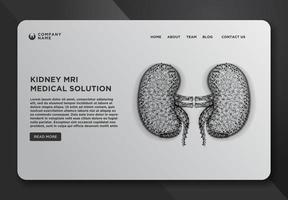 plantilla de diseño de página web con riñón vector