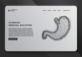 Web page design template with stomach