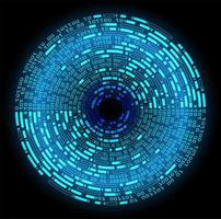 fondo de tecnología futura del circuito cibernético del ojo azul
