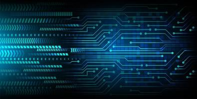 Blue cyber circuit future technology background vector