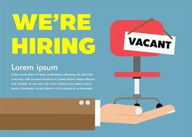 We are hiring concept design vector