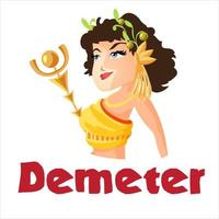 Demeter, Greek Goddess from ancient mythology vector