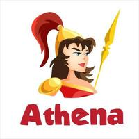 deusa grega antiga atena vetor