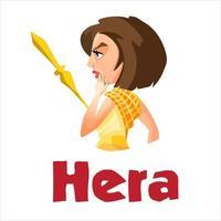antigua diosa griega hera. vector
