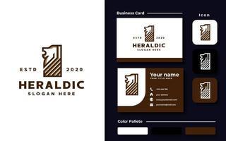 Heraldic Lion Logo Template