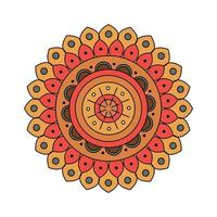 decoración india mandala colorida vector