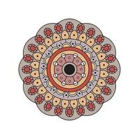 Indian muted color mandala design