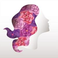 Woman with roses on the hair