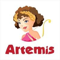 artemisa o diana antigua diosa vector