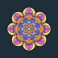 diseño colorido de la flor de la mandala