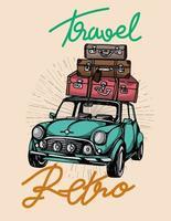 Mini car classic vintage background