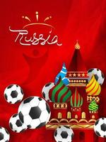 Paper art of Russian with modern and traditional elements vector