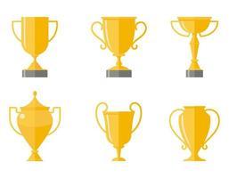 Set of winner cups.