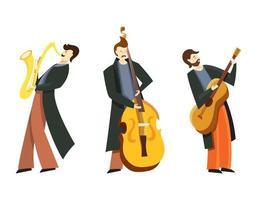 conjunto de músicos de jazz. vector