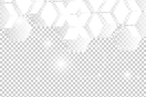 Abstract White geometric Hexagon vector