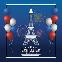 French Bastille day national celebration banner vector