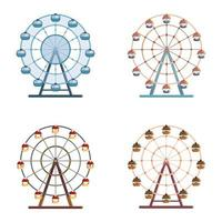 Set of ferris wheels.