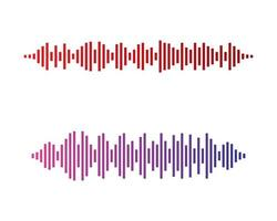 Sound wave colors vector