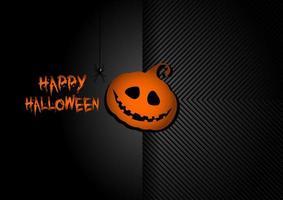fondo hallowen con calabaza, jack o lantern vector